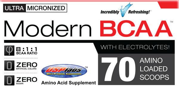 modern bcaa+ della usp labs aminoacidi ramificati in polvere per migliorare il recupero muscolare
