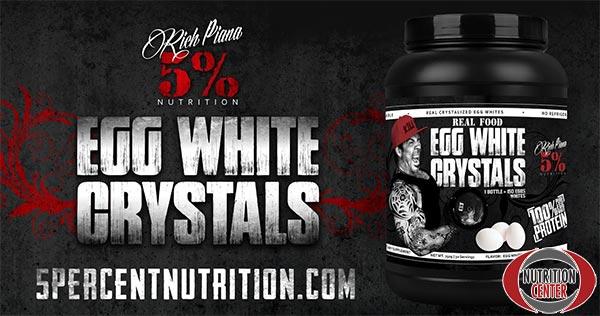 Egg White Crystals proteina in polvere realizzata con il bianco d'uovo, non contiene grassi, ne zuccheri ne carboidrati, solo proteine