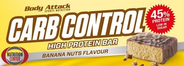 carb control bar della body attack barretta proteica da 100 grammi con elevata percentuale proteica