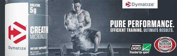 creatine monohydrate dymatize aumenta le performance e la resistenza in allenamento, pura creatina creapure