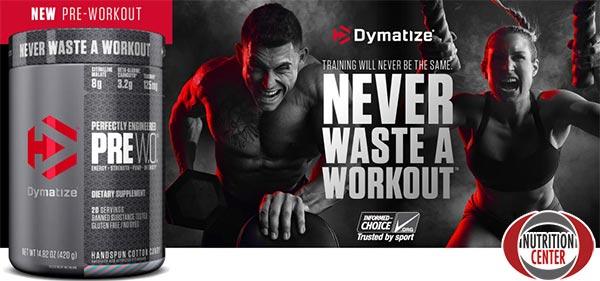 dymatize pre w.o. integratore pre workout ricco in aminoacidi utili a stimolare la produzione dell'ossido nitrico e dell'energia