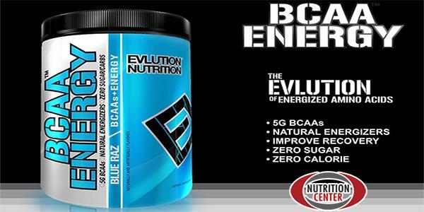EVL Bcaa Energy pre allenamento a base di amminoacidi ramificati arricchiti in beta alanina, caffeina e taurina, ideale per intensificare l'esercizio fisico