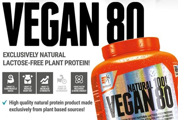 Vegan 80 Protein prodotto proteico per vegani, solo riso e piselli, senza soia ne aspartame