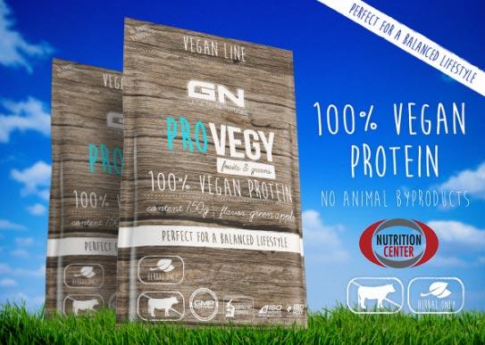 Vegan Protein ProVegy proteina in polvere per vegani, isolata dal pisello per ottenere il massimo del valore biologico