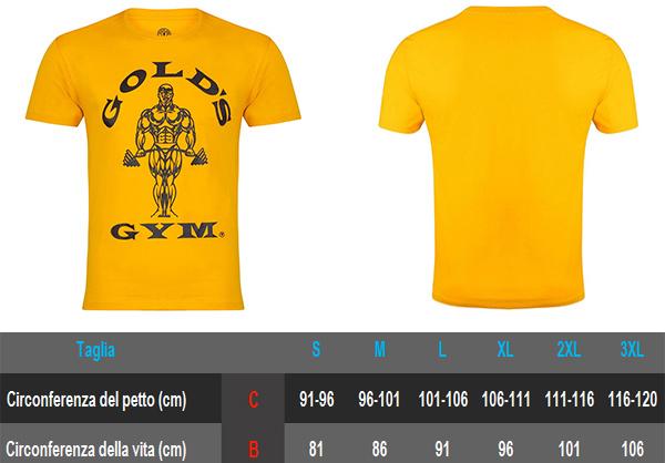 muscle joe t-shirt gold's gym maglia per allenamento