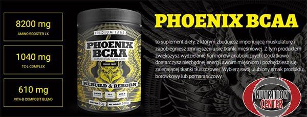 Phoenix Bcaa è ramificati arricchiti con composti anabolici ed ergogenici, ottimo prima del workout ma indicato anche durante e dopo