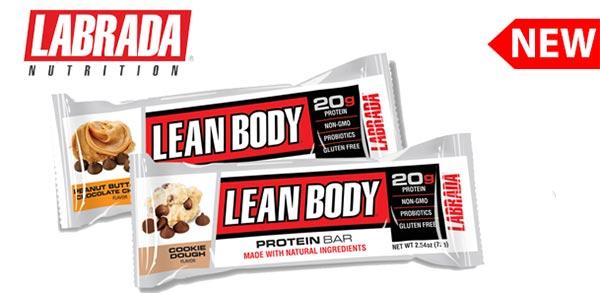lean body protein bar della labrada barretta con 20 grammi di proteine priva di glutine e ogm