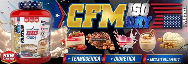 CFM Iso Dry Protein integratore dal siero di latte isolato per filtrazione a flusso incrociato e basse temperature, ricca di composti dimagranti e antiossidanti