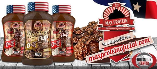 Max Flup crema ipocalorica spalmabile a base di sciroppo di sorbitolo e cacao magro, ideale sugli spuntini