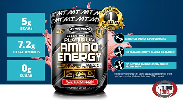 Platinum Amino + Energy pre workout energetico e anabolico arricchito di caffeina ed epigallocatechine gallato