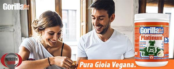 Gorilla Platinum integratore a base di porteine vegetali prive di soia, ottimo per colazione o in ogni altro momento