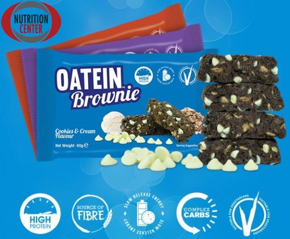 Oatein Brownie biscotto proteico ricco di fibra da avena e di minerali e vitamine