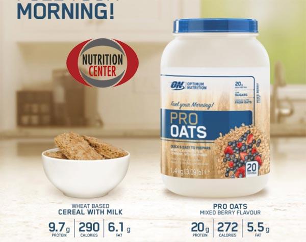 Pro Oats Protein Porridge fiocchi di avena arricchiti con siero proteine del latte, ideale per colazione