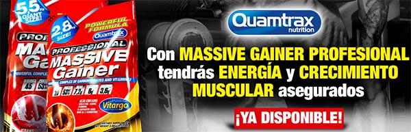 Professional Massive Gainer prodotto per aumentare massa a base di proteine, carboidrati e composti ergogenico anabolici