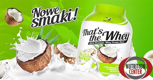 That's The Whey proteina dal siero di latte concentrato e isolato, ottima dopo il workout