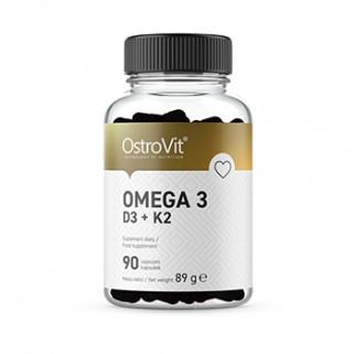 Omega-3 D3+K2  90cps ostrovit