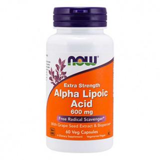 Alpha Lipoic Acid 600mg 60cps now foods