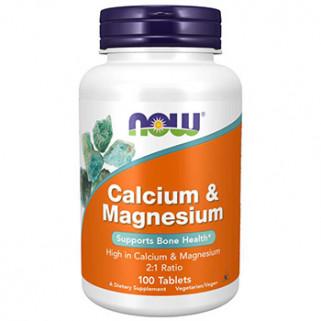 Calcium & Magnesium 100cps now foods