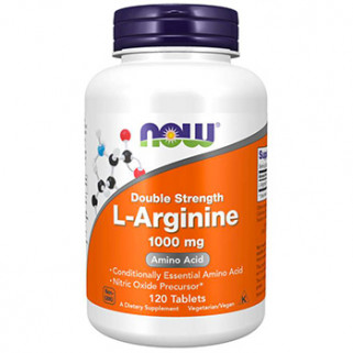 l-arginine 1000mg 120cps now foods