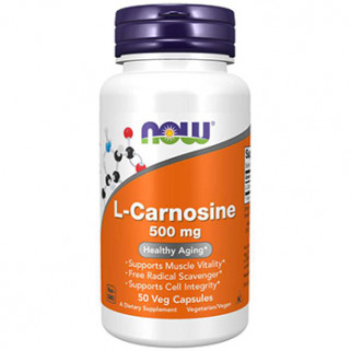 l-carnosine 500mg 50cps now foods