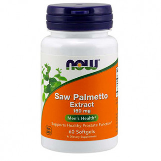 saw palmetto extract 160mg 60cps now foods