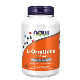 L-Ornitina 500mg 120cps now foods