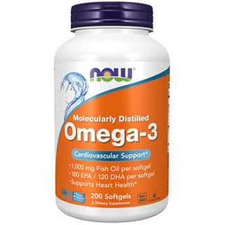 omega-3 200cps now foods